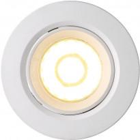 LED-alasvalo Nordlux Roar, 6W, IP23, himmennettävä, valkoinen