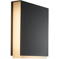 LED-ulkoseinävalaisin Nordlux Tamar Clips, musta