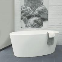 Kylpyamme Noro Sand 1582x718mm valumarmori, valkoinen