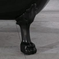 Kylpyamme Noro Old England 156, musta/valkoinen, musta leijona tassut
