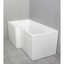 Kylpyamme Noro Grand 1575x830x700, vasen, akryyli, valkoinen, Verkkokaupan poistotuote