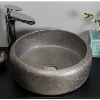 Malja-allas Noro Indria 410, 410x155mm, posliini, kuvioitu, hopea, Verkkokaupan poistotuote
