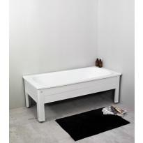 Kylpyamme Noro Fix 1500, emali, puolimittaisella levyllä