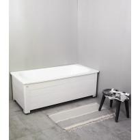 Kylpyamme Noro Fix 1500, emali, täysimittaisella levyllä