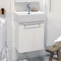 Allaskaappi Noro Single 450, kiiltävä valkoinen, 440x285x520mm