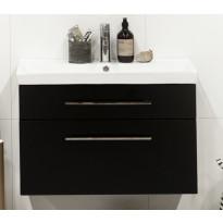 Allaskaappi ja pesuallas Noro Fix Trend 550, musta, matta