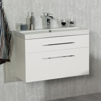 Allaskaappi Noro ja Pesuallas Noro Fix Trend 750, matta valkoinen, 760x320x515mm