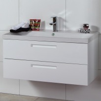 Allaskaappi Noro Relounge 1000, kiiltävä valkoinen, 985x415x450mm