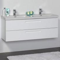Allaskaappi Noro Relounge 1200, kiiltävä valkoinen, 1185x415x450mm