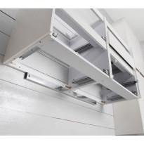 Asennuslista Noro, seinään asennettavalle kaapille, 400mm, alumiini