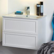Allaskaappi Noro Seaside 600, matta valkoinen, kehys, 590x435x455mm