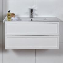 Allaskaappi Noro Seaside 900, matta valkoinen, kehys, 890x435x455mm