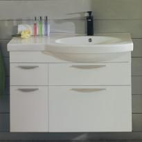 Allaskaappi Noro Ocean 900, matta valkoinen, sileä, oikea, 866x360x590mm