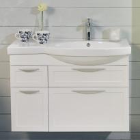 Allaskaappi Noro Ocean 900, matta valkoinen, kehys, oikea, 866x360x590mm, Verkkokaupan poistotuote