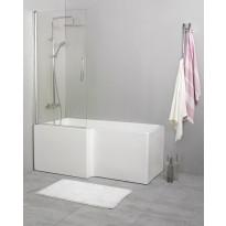 Suihkuseinä kylpyammeelle Noro Fix Trend 80, 810x1500 mm, käännettävä, kirkas lasi, Verkkokaupan poistotuote