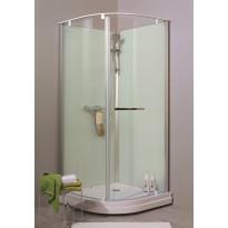 Suihkukaappi Noro Ocean 90R, 900x900 mm, valkoinen lasi