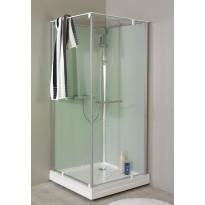 Suihkukaappi Noro Ocean 80C, 800x800 mm, valkoinen lasi
