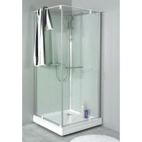 Suihkukaapin ovi + allas Noro Ocean 79C, 700x900x2040 mm, lasi kirkas, Verkkokaupan poistotuote