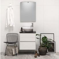 Kylpyhuonekaluste Noro Lifestyle Concept 600, malja-altaalla ja laatikostolla, korkea