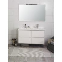 Kylpyhuonekaluste Noro Lifestyle Concept 1200duo, pesualtaalla ja laatikostoilla, korkea