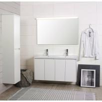 Kylpyhuonekaluste Noro Lifestyle Concept 1200duo, pesualtaalla ja allaskaapilla, korkea