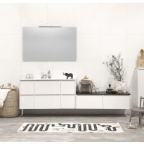 Kylpyhuonekaluste Noro Lifestyle Concept 1200, pesualtaalla ja laatikostoilla, korkea
