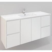 Kylpyhuonekaluste Noro Lifestyle Concept 1200, pesualtaalla, allaskaapilla ja sivulaatikostoilla, korkea