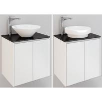Kylpyhuonekaluste Noro Lifestyle Concept 600, malja-altaalla ja allaskaapilla, korkea