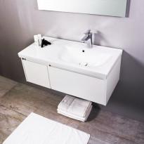 Kylpyhuonekaluste Noro Lifestyle Concept 900, pesualtaalla ja laatikostolla, matala, oikea tai vasen