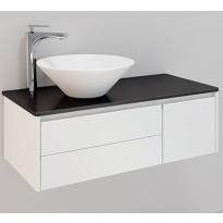 Kylpyhuonekaluste Noro Lifestyle Concept 900, malja-altaalla ja laatikostolla, matala, oikea tai vasen