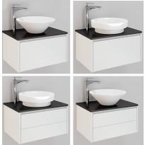 Kylpyhuonekaluste Noro Lifestyle Concept 600, malja-altaalla ja laatikostolla, matala