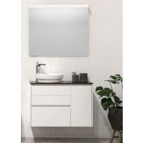 Kylpyhuonekaluste Noro Lifestyle Concept 900, malja-altaalla, laatikostolla ja sivukaapilla, korkea, oikea tai vasen
