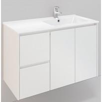Kylpyhuonekaluste Noro Lifestyle Concept 900, pesualtaalla, allaskaapilla ja laatikostolla, korkea, oikea tai vasen