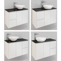 Kylpyhuonekaluste Noro Lifestyle Concept 900, malja-altaalla, allaskaapilla ja sivulaatikostolla, korkea, oikea tai vasen