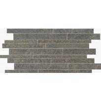 Mosaiikkilaatta NovaBell Avant Muretto IN Basalt, 30x60, tumma harmaa