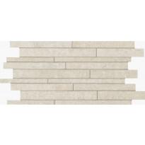 Mosaiikkilaatta NovaBell Avant Muretto IN Bone, 30x60, valkoinen