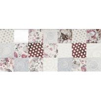 Seinälaatta NovaBell Class Patchwork White/Lilac/Bordeaux, 26x61, monivärinen