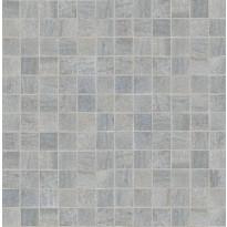 Mosaiikkilaatta NovaBell Crossover Mosaico Argento, 30x30/2,5x2,5, harmaa