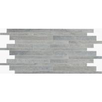 Mosaiikkilaatta NovaBell Crossover Mattoncino Argento, 30x60, harmaa
