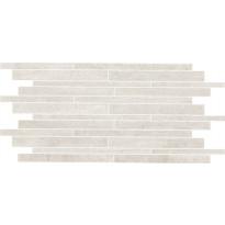 Mosaiikkilaatta NovaBell Crossover Mattoncino Avorio, 30x60, valkoinen
