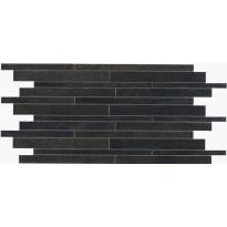 Mosaiikkilaatta NovaBell Crossover Mattoncino Nero, 30x60, musta