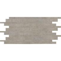 Mosaiikkilaatta NovaBell TriBeCa Mattoncino Beton, 30x60, harmaa