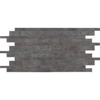 Mosaiikkilaatta NovaBell TriBeCa Mattoncino Asfalto, 30x60, musta