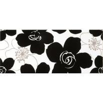 Seinälaatta NovaBell Vogue Fiori Black/White, 26x61, monivärinen