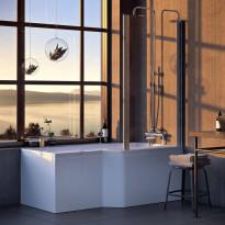 Kylpyamme Nordhem, Apelviken Nordurit, 1575x845x590mm, valkoinen, oikea