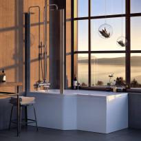 Kylpyamme Nordhem, Apelviken Standard, 1575x845x590mm, valkoinen, vasen