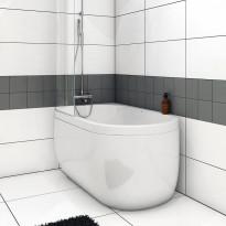 Kylpyamme Nordhem, Djupvik Nordurit, 1500x800x620mm, valkoinen, vasen