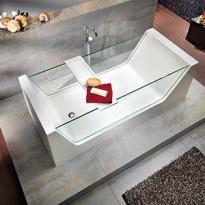 Kylpyamme Nordhem, Gottskär, 1800x800x600mm, vapaasti seisova, valkoinen/lasi
