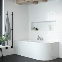 Kylpyamme Nordhem, Torekov Standard, 1600x725x590mm, valkoinen, vasen