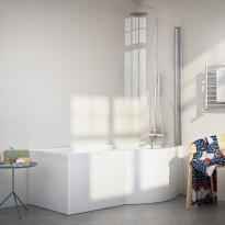 Kylpyamme Nordhem, Solvik Nordurit, 1700x900x590mm, valkoinen, oikea